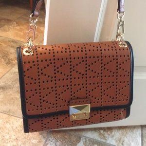 Brand new Karl Lagerfeld brown leather handbag